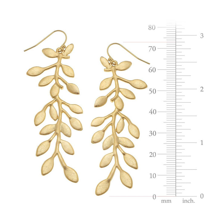 Gold Vine Earrings