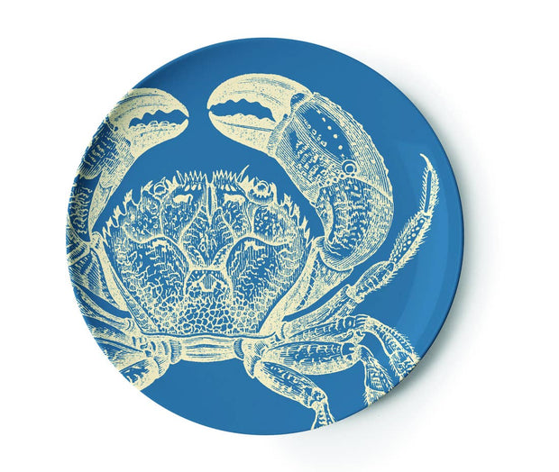 sea life dinner plates in four colors