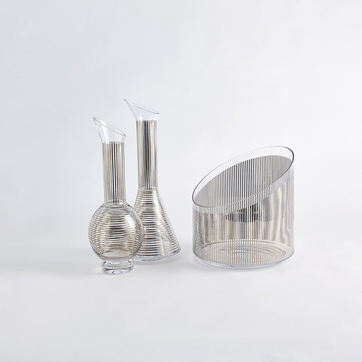 Platinum Stripe Wine Decanter-Cone