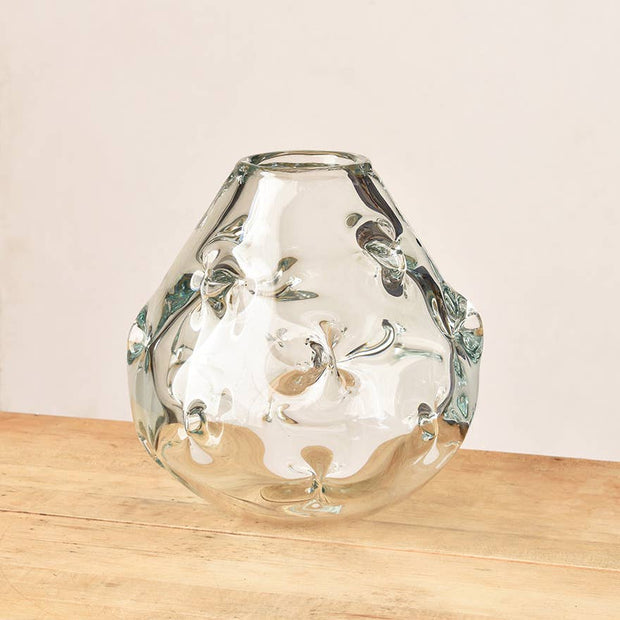 Crystal Nettles Vase - Wide