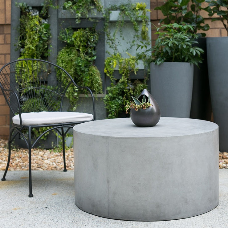 Light Concrete Outdoor Coffee Table