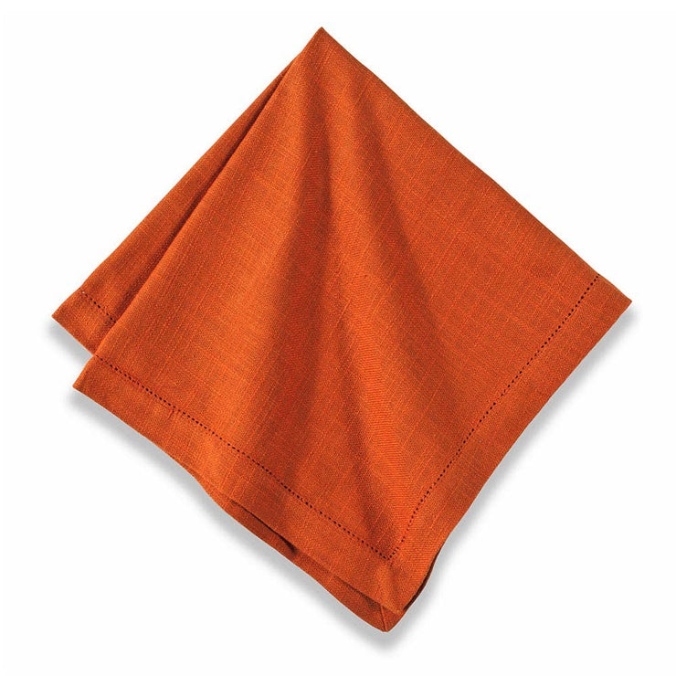 Orange Hemstitch Napkins - Set of 6