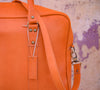 WEEK-END LEATHER BAG- ORANGE