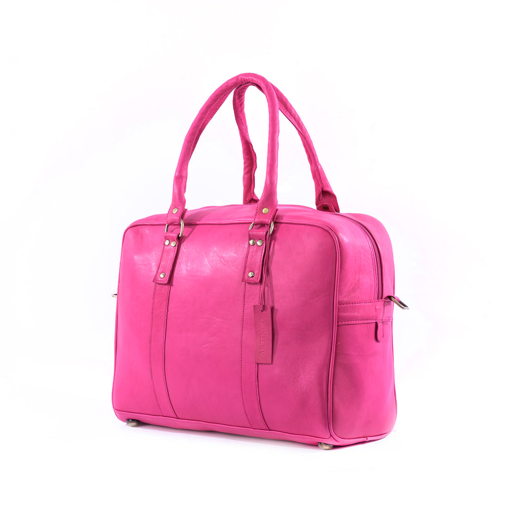 bags WEEK-END LEATHER BAG-PINK - ArtinooARTINOO