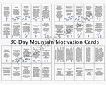 """30 Day Mountain Goal Motivational Cards"""
