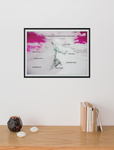 """Worth Every Step - Goals"" Dry Eraseable Pink Sky Graphic Print"