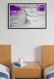 """Worth Every Step - Goals"" Dry Eraseable Purple Sky Graphic Print"