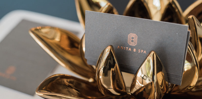 anita b spa business cards