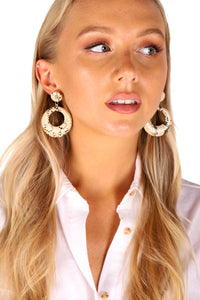 Serpentine Earrings | Beige Snake
