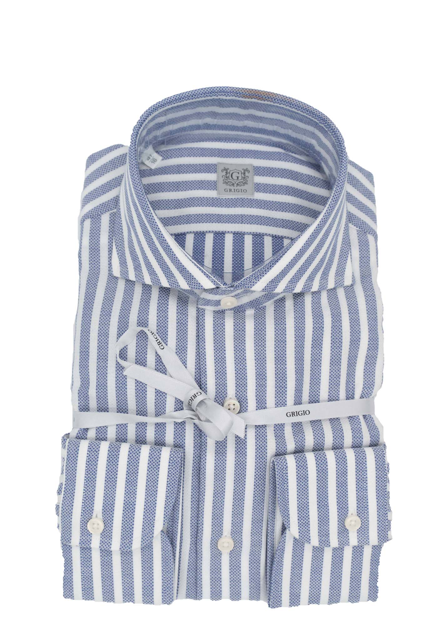 Cotton blue & white stripe shirt