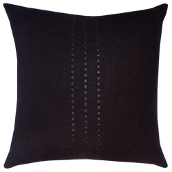 Cape Cushion with Leather Detail - Coal