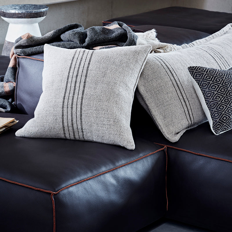 Fox Sofa Cushion with Vertical Detail - Dawn
