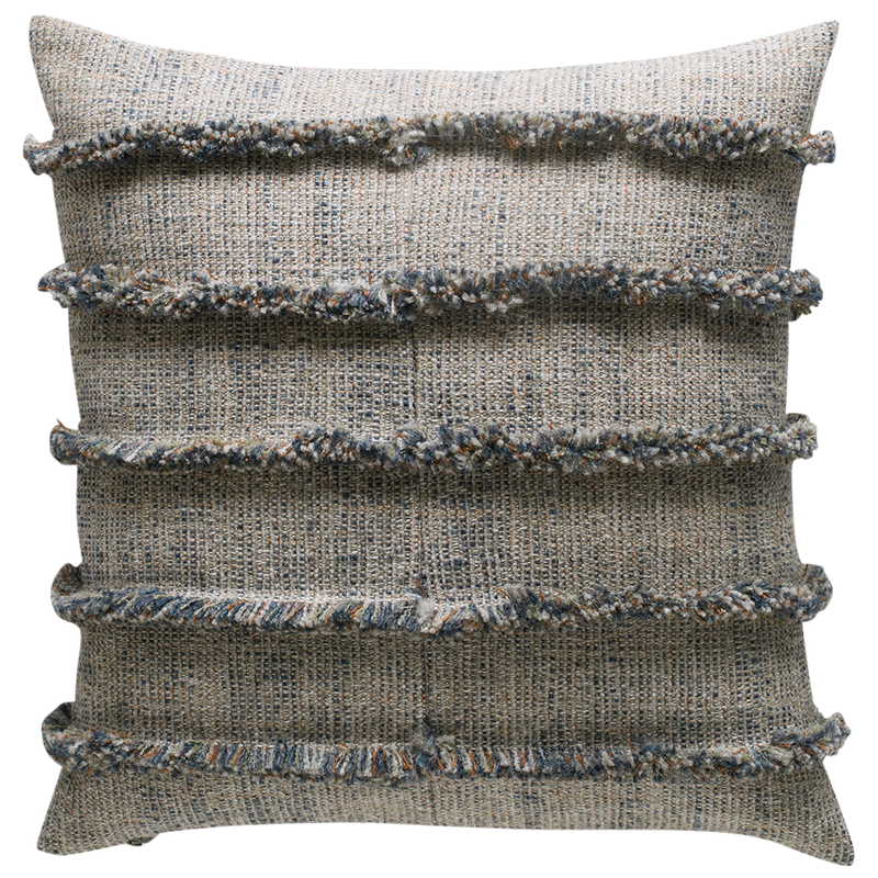 Rogue Cushion with Fringe Detail - Creek