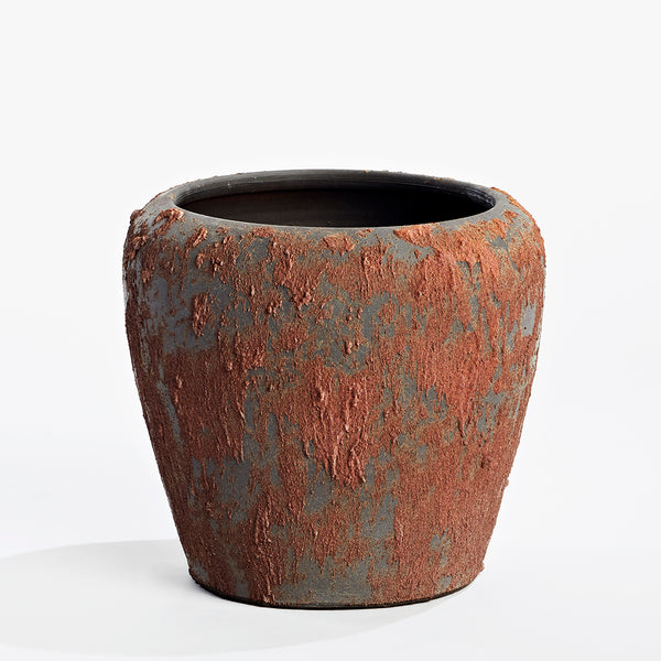 Terracotta Vase Large - Brown Lava