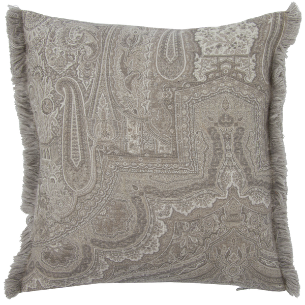 Victoria Cushion with Fringe - Crystal