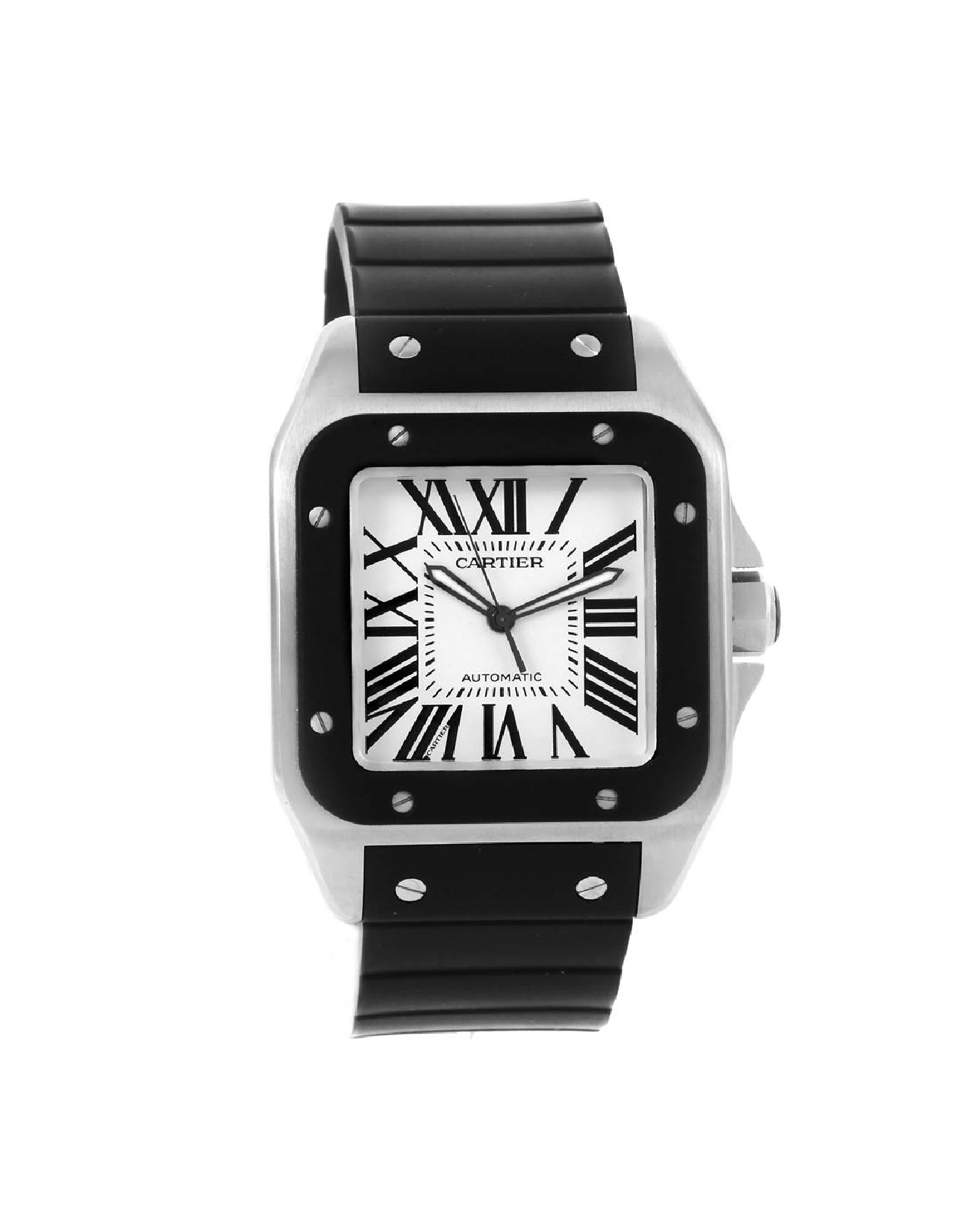 Cartier Santos 100 XL Rubber Bezel