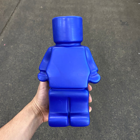 Block Man Planter - Blue