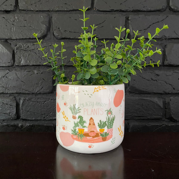 Crazy About Plants Planter (Small)