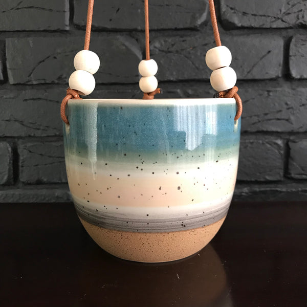Pink & Blue Hanging Planter