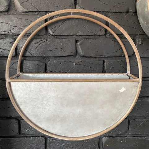 Metal Wall Planter - Large