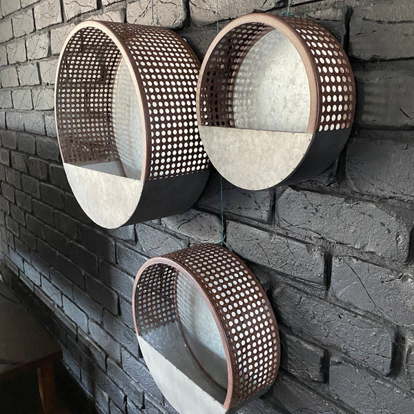 Hole Punched Wall Planter - Medium