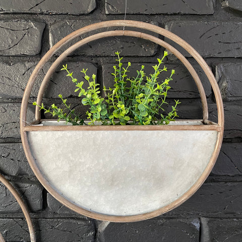 Metal Wall Planter - Small