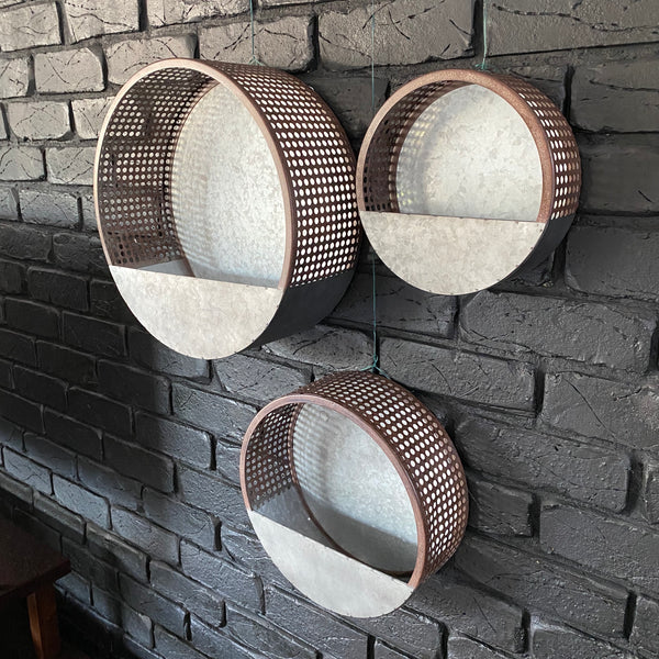 Hole Punched Wall Planter - Large