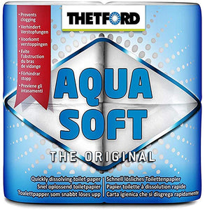 Thetford Aqua Soft Toilet Paper, Set of 4