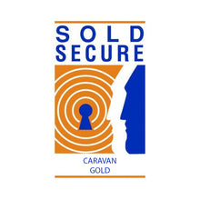 Load image into Gallery viewer, Milenco Wraith Caravan Wheel Lock, Sold Secure Gold