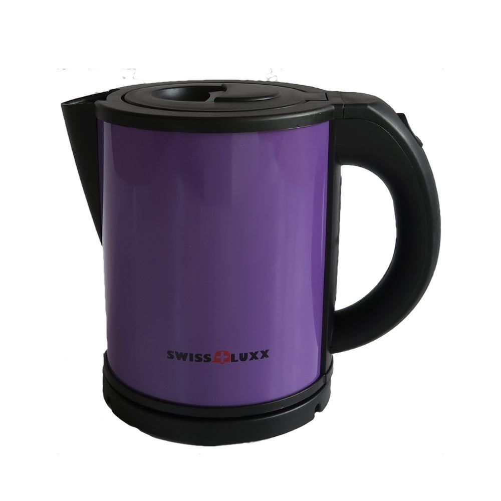 Swiss Luxx Low Wattage Cordless 1L Colourways Kettle Camping Caravan - Purple