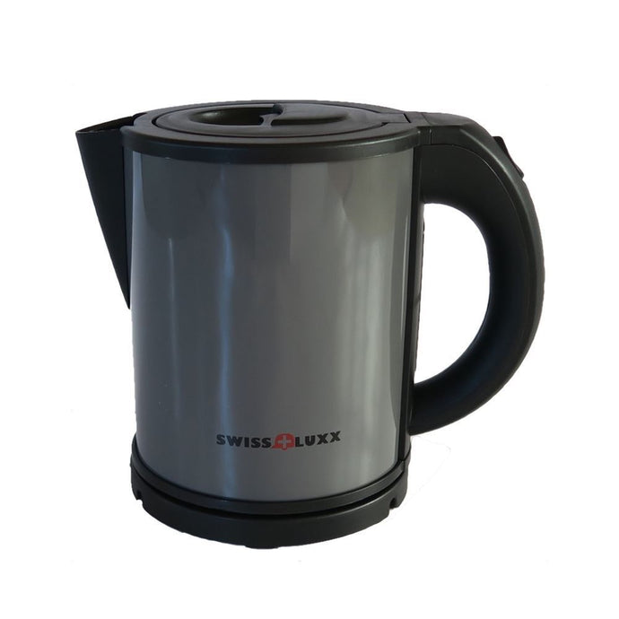 Swiss Luxx Low Wattage Cordless 1L Colourways Kettle Camping Caravan - Grey
