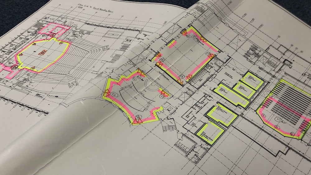 Technical Plan for our Installation in a concert hall