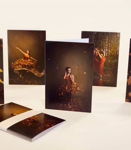 Dance Photo Cards - Set of 5 - Fall Themed