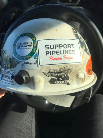 Order your Support Pipeline Stickers and add to your construction hat, truck, toolbox, and anywhere you want to spread the love around pipelines.