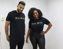 Load image into Gallery viewer, Faith Works Tee - Black