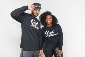 God Be Knowin' Long Sleeve - Black