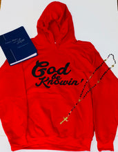 Load image into Gallery viewer, God Be Knowin' Hoodie (red/black)