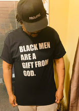 Load image into Gallery viewer, Black Men Are A Gift From God - short sleeve (black/silver)