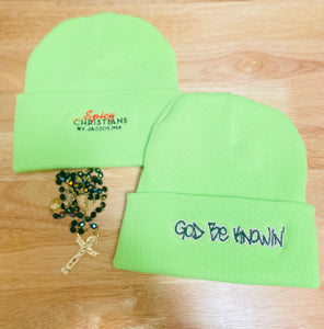 God Be Knowin' Beanie Hat (neon)