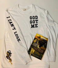 Load image into Gallery viewer, God Got Me Tee  (white/black)