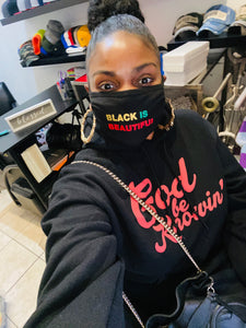 """Black Is Beautiful"" Face Masks (Black history month edition)"