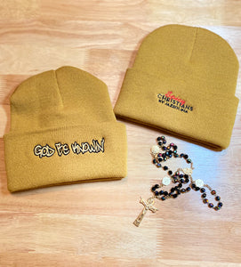 God Be Knowin' Beanie hat  (mustard)