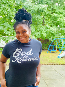 God Be Knowin' Short Sleeve (black/metallic silver)