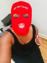 Load image into Gallery viewer, God Be Knowin' ski mask beanie (red)