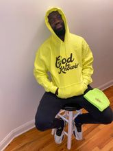 Load image into Gallery viewer, God Be Knowin' Hoodie (lime/black)