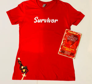 Survivor Tee (red/white)