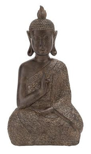 "17"" Decorative Buddha Sculpture - Home Decor"