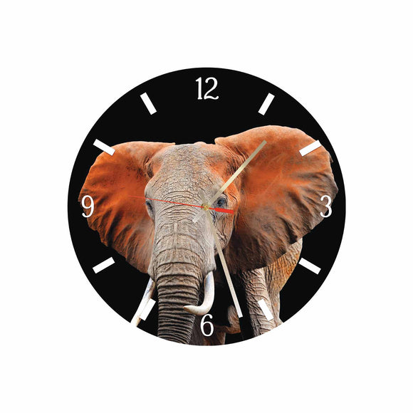 Elephant Round/Square Acrylic Wall Clock