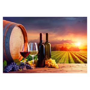 Tempered Glass Art - Vineyard Party Time Wall Art Decor