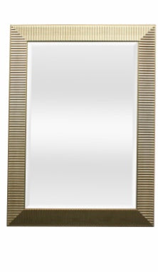 Rippled Beveled Rectangular Mirror 28